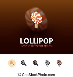 Lollipot icon in different style - Lollipot color icon,...