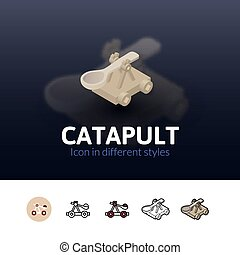 Catapult icon in different style - Catapult color icon,...