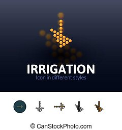Irrigation icon in different style - Irrigation color icon,...