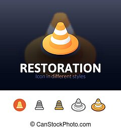 Restoration icon in different style - Restoration color...