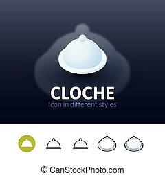 Cloche icon in different style
