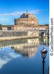 Castel Sant'Angelo - View of Castel Sant'Angelo and the...