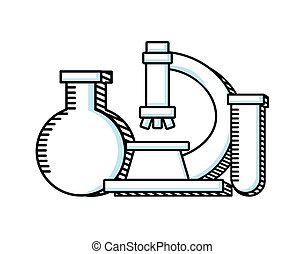 science education line icon vector illustration design