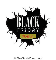 Black Friday - Black friday banner with text, Vector...