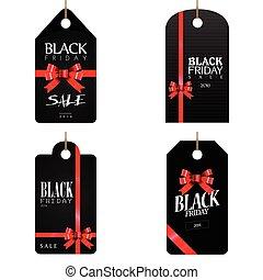 Black friday labels - Set of black friday labels, Vector...