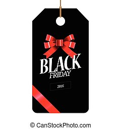 Black friday label - Isolated black friday label with text,...