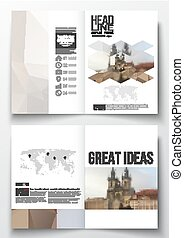 Set of business templates for brochure, magazine, flyer,...