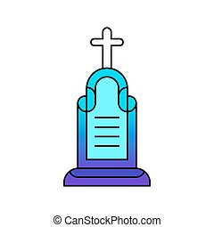 headstone lined icon. RIP - headstone icon. RIP lined icon....
