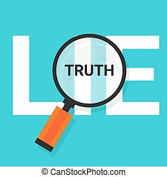 truth lie symbol text magnify magnifying find true - truth...
