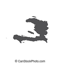 Republic of Haiti map silhouette