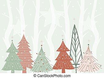 Winter forest background design
