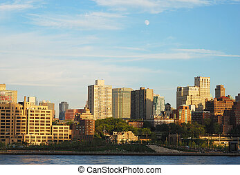 Downtown Brooklyn skyline in NY - Downtown Brooklyn skyline...