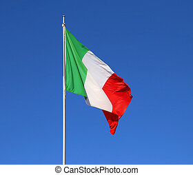 Italian flag with the colors red white and green and the...