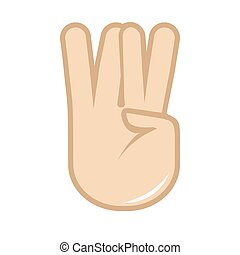 Vector hand gesture icon. Sign language.