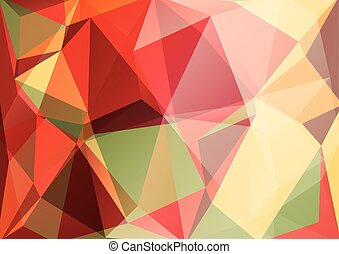 red yellow background - Abstract polygonal pattern with...