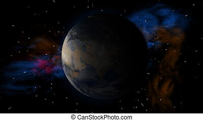 Earth Space Spin More Stars - Earth Space Spin with More...