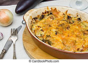 queijo, ASSADO, beringela, abobrinha