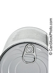 can - closeup of a can isolated on a white background
