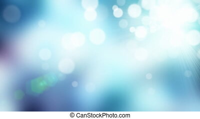 Particles abstract blue background - Cold colored defocused...