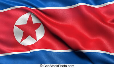 North Korea flag seamless loop - Seamless loop of North...