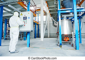chemical industry worker at factory - chemical industry...