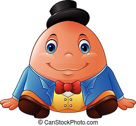 Cartoon Humpty Dumpty - Vector illustration of Cartoon...