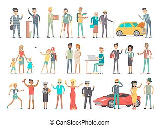 Collection of Characters of Different Social Level -...