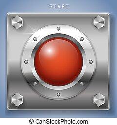 Red start button ignition - Big red round button ignition,...