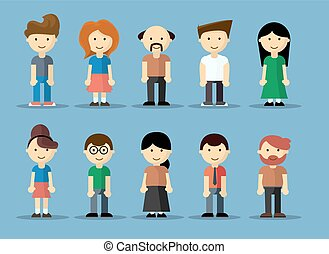 Collection of cute cartoon avatars - Collection of cute...