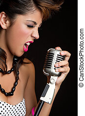 Singing Girl - Beautiful singing rockstar girl