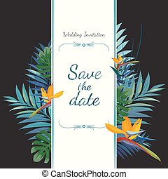 Wedding invitation card. Save the date. Colorful vector...