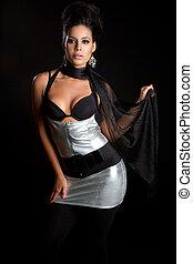 Fashion Model Woman - Beautiful latina fashion model woman