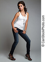 Fashion Model Girl - Teen fashion model girl posing