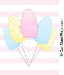 cotton candy with stripes - a vector illustration in eps 10...