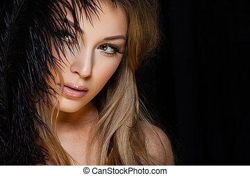 Sexy blond lady