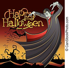 Vector Vampire Dracula - Cartoon Dracula vector. Vampire...