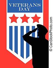Veterans Day concept vector illustration