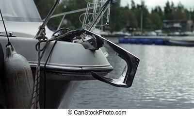 anchor on Moored boat