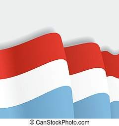Luxembourg waving Flag. Vector illustration. - Luxembourg...