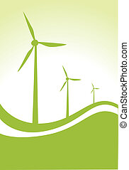 wind generators - wind generator with green background