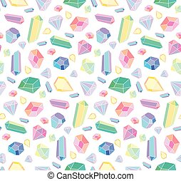 Vector seamless pattern with diamonds and jewelry.