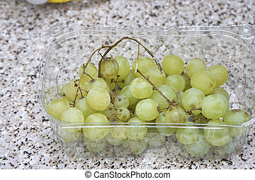 white grapes in my house - detail of white grapes in my...