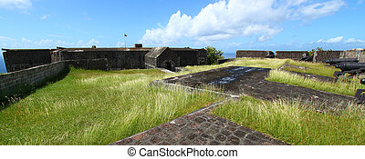 Brimstone Hill Fortress - St Kitts - The walls of Brimstone...
