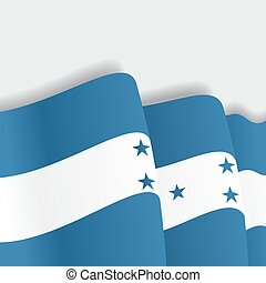 Honduras waving Flag Vector illustration - Honduras waving...