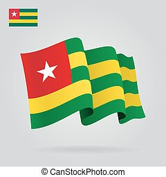 Togo waving Flag. Vector illustration. - Togo waving Flag....