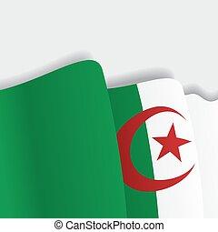 Algerian waving Flag. Vector illustration. - Algerian waving...
