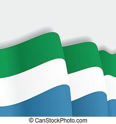 Sierra Leone waving Flag. Vector illustration. - Sierra...