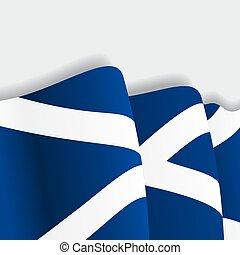 Scottish waving Flag Vector illustration - Scottish waving...