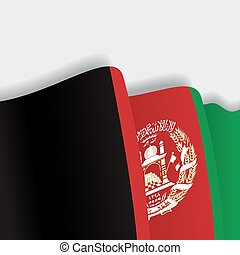 Afghanistan waving Flag. Vector illustration. - Afghanistan...