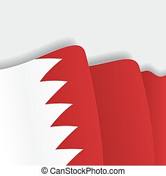 Bahrain waving Flag. Vector illustration. - Bahrain waving...